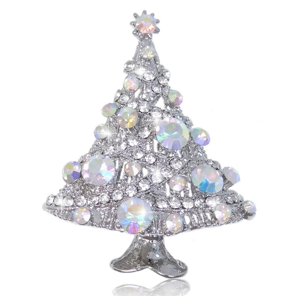 Ever Faith Party Tree Streamer Star Brooch Austrian Crystal N02324-3