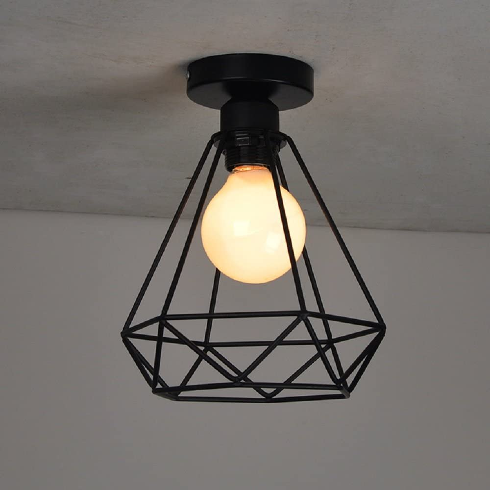Deckenleuchte Retro Metall K/äfig Deckenlampe CE-Zertifikat Innenbeleuchtung E27 220V f/ür B/üro Restaurant Wohnzimmer Bar Energieklasse A+