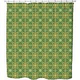 Uneekee Indonesian Splendor Shower Curtain: Large Waterproof Luxurious Bathroom Design Woven Fabric