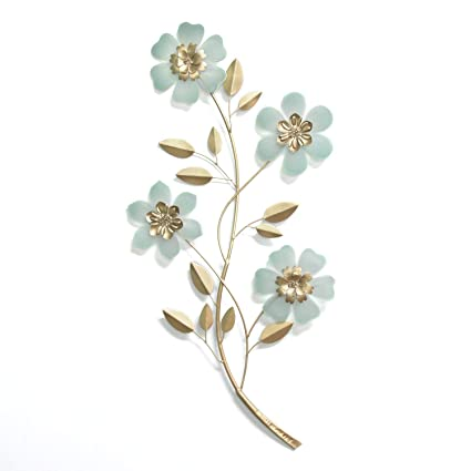 Amazon Com Homeroots Champagne Blue Metal Acrylic Acrylic Flower