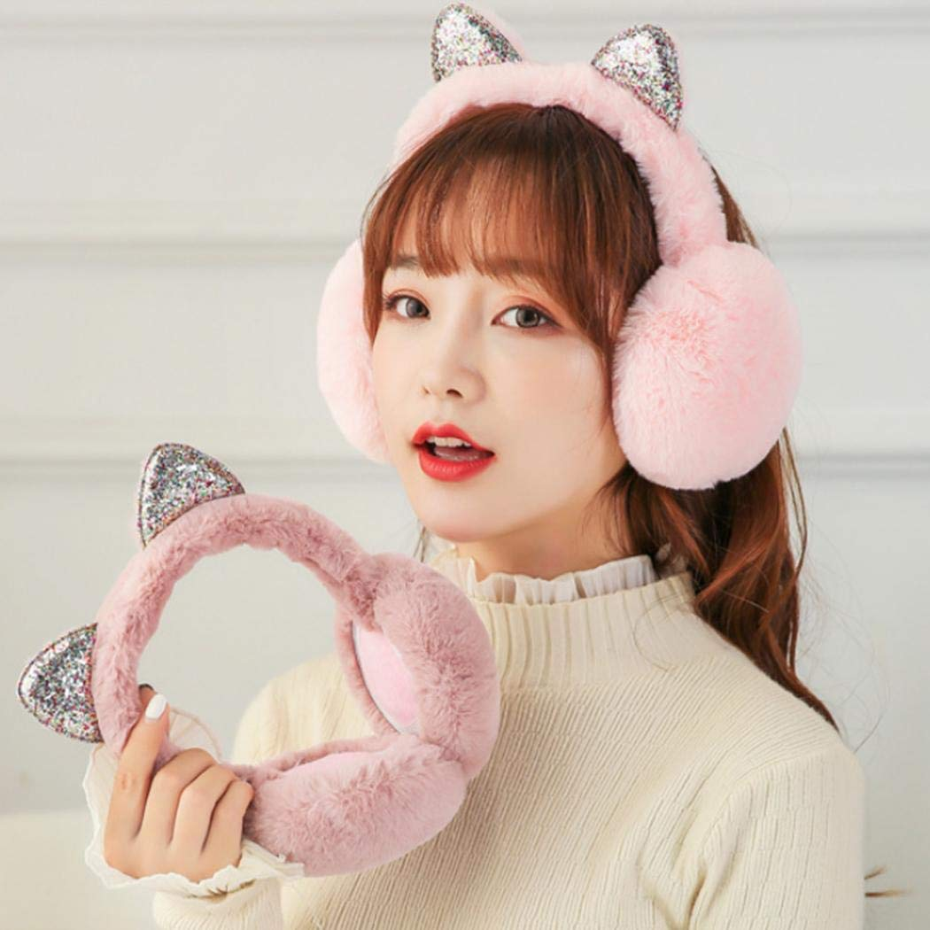 Namekuer Orecchie da donna a forma di orecchie per gatti Paraorecchie