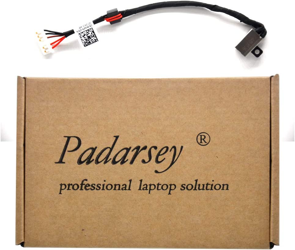 Padarsey Replacement 450.03006.0001 Power Jack Port Socket Harness Connector Charging Plug DC in Cable for Dell Inspiron 14-3451 14-i3451 3452 14-3452 14-i3452 Inspiron 15-3000 3551 3558 3552