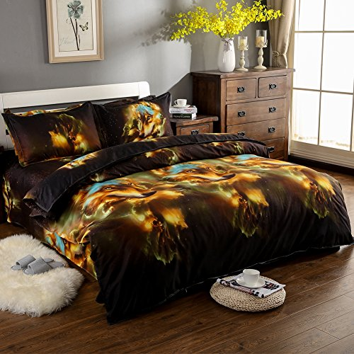 JessyHome 3d Bedding Set Queen/Full Wolf Duvet Cover Print S