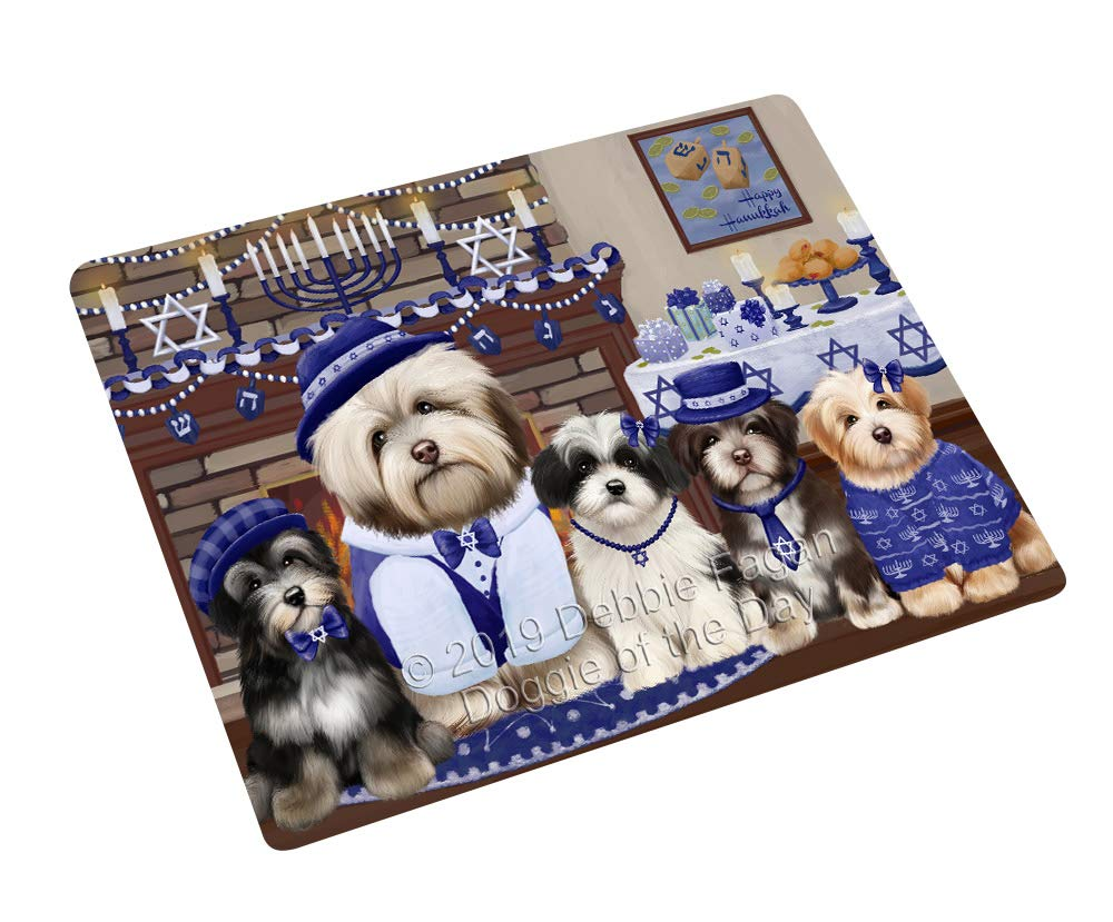 Happy Hanukkah Family and Happy Hanukkah Both Havanese Dogs Large Refrigerator/Dishwasher Magnet RMAG105516 (18'' x 24'') by Doggie of the Day