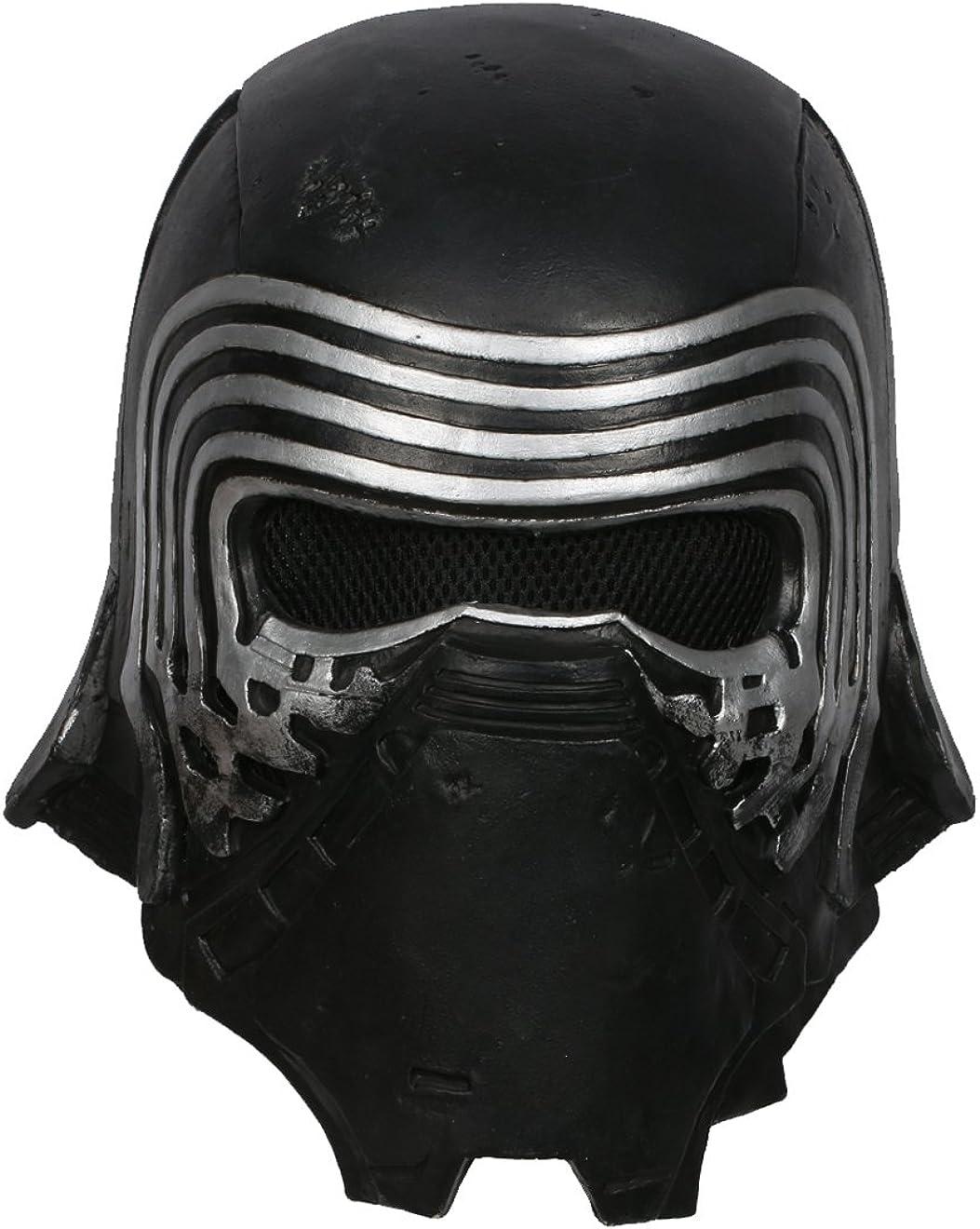 Kylo Masque Deluxe Black Series Latex Casque Herren V/êtements D/éguisement Cosplay Costume R/éplique pour Adulte