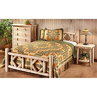 CASTLECREEK Diamond Cedar Log Bed King