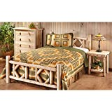 CASTLECREEK Diamond Cedar Log Bed, King