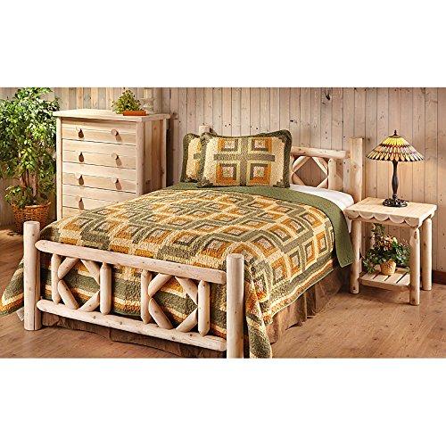 CASTLECREEK Diamond Cedar Log Bed King - Solid Cedar Log