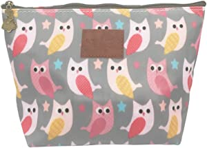 HUNGER Pink Owl Make-Up Cosmetic Bag Carry Case , 14 Patterns (P11417015)