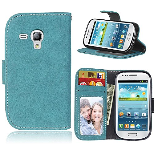 samsung s3 mini case retro blue - 8