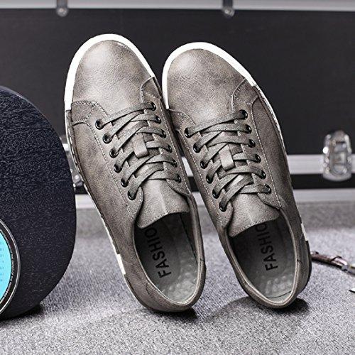 Sport Homme Cuir À Gris Lacets Baskets Casual Business 48 Marron Travail Chaussures 38 En Jaune Noir Basses Sneakers rr6Px5w0