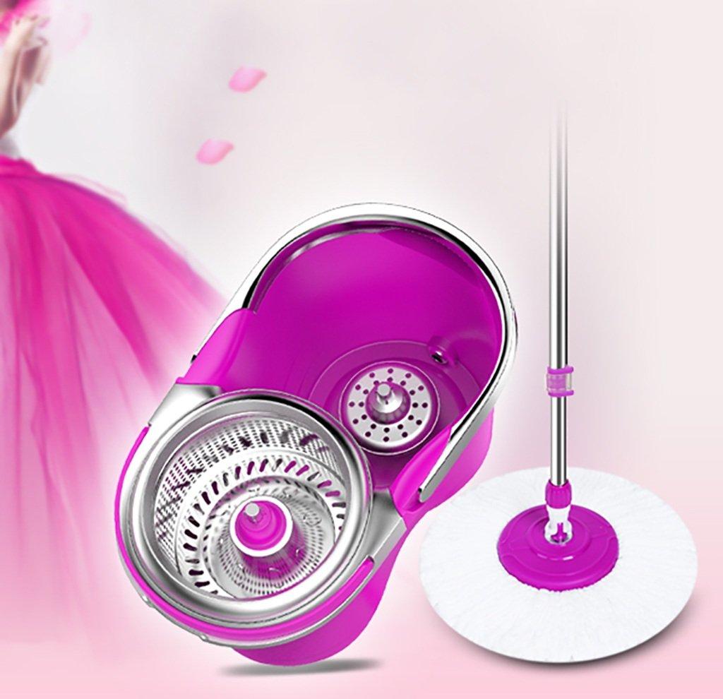 モップ完全洗浄システムモップヘッド+ 360°回転モップバケット時間と労力を節約ロータリーモップ B07FMQXJDQ