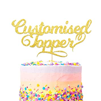 Personalised Cake Topper Happy Birthday Decorations Double Sided