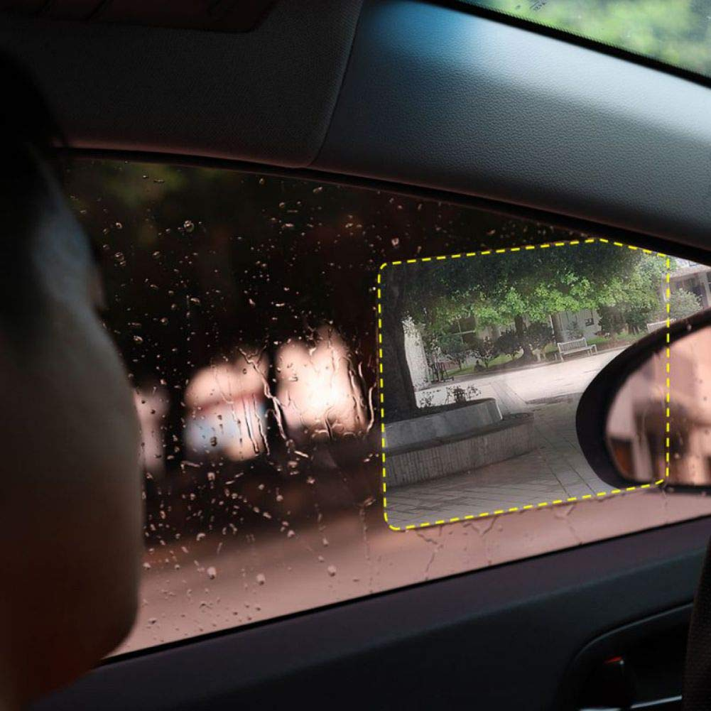 Bebliss /Étanche /à la Pluie Autocollants de r/étroviseurs de Voiture Film de Protection pour fen/être lat/érale de Voiture Membrane Anti-bu/ée Versatile