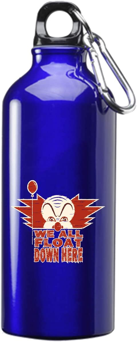 Hat Shark We All Float Down Here Miniseries Parody 3D Color Printed 17 oz Stainless Steel Water Bottle Blue