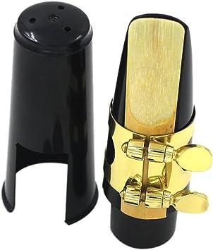 MERIGLARE Alto Sax Sassofono Boccaglio di Plastica con Tappo In Silicone Fibbia Reed Kit per Sassofono Contralto Sassofono Parti