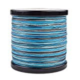 HERCULES Super Cast 1000M 1094 Yards Braided Fishing Line 80 LB Test for Saltwater Freshwater PE Braid Fish Lines Superline 8 Strands - Blue Camo, 80LB (36.3KG), 0.48MM