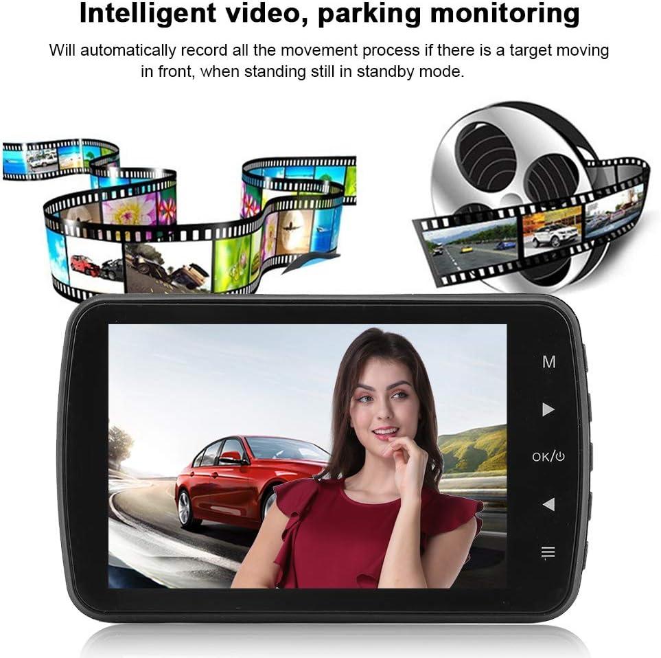 iFCOW Registratore di Guida 3 5 Pollici Lcd 1080P Registratore di Guida Doppia Fotocamera 170 /° Grandangolare Visione Notturna Chiara Dvr per Auto Dashcam