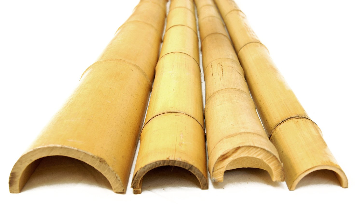 4'' x 5' Bamboo Poles Half Rounds (8 Half Poles) by FOREVER BAMBOO