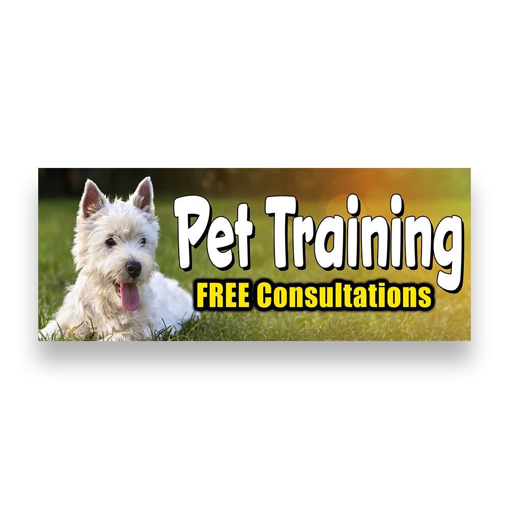 PET Training Vinyl Banner 5 Feet Wide by 2 Feet Tall