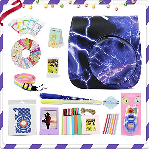 LuckyStar 20 in 1 Accessories Bundles for Fujifilm Instax Mini 8 8+ 9 Instant Camera (Lightning Mini 8/8+/9 Case, Selfie Lens, Mini Albums, Stand Albums, Film Frame, Film Stickers + - Stand Album Mini
