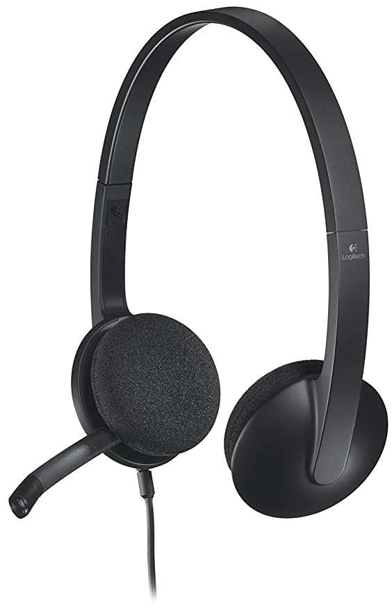 Logitech 981 000507 H340 Usb Headset 6ft Cable PC Headsets