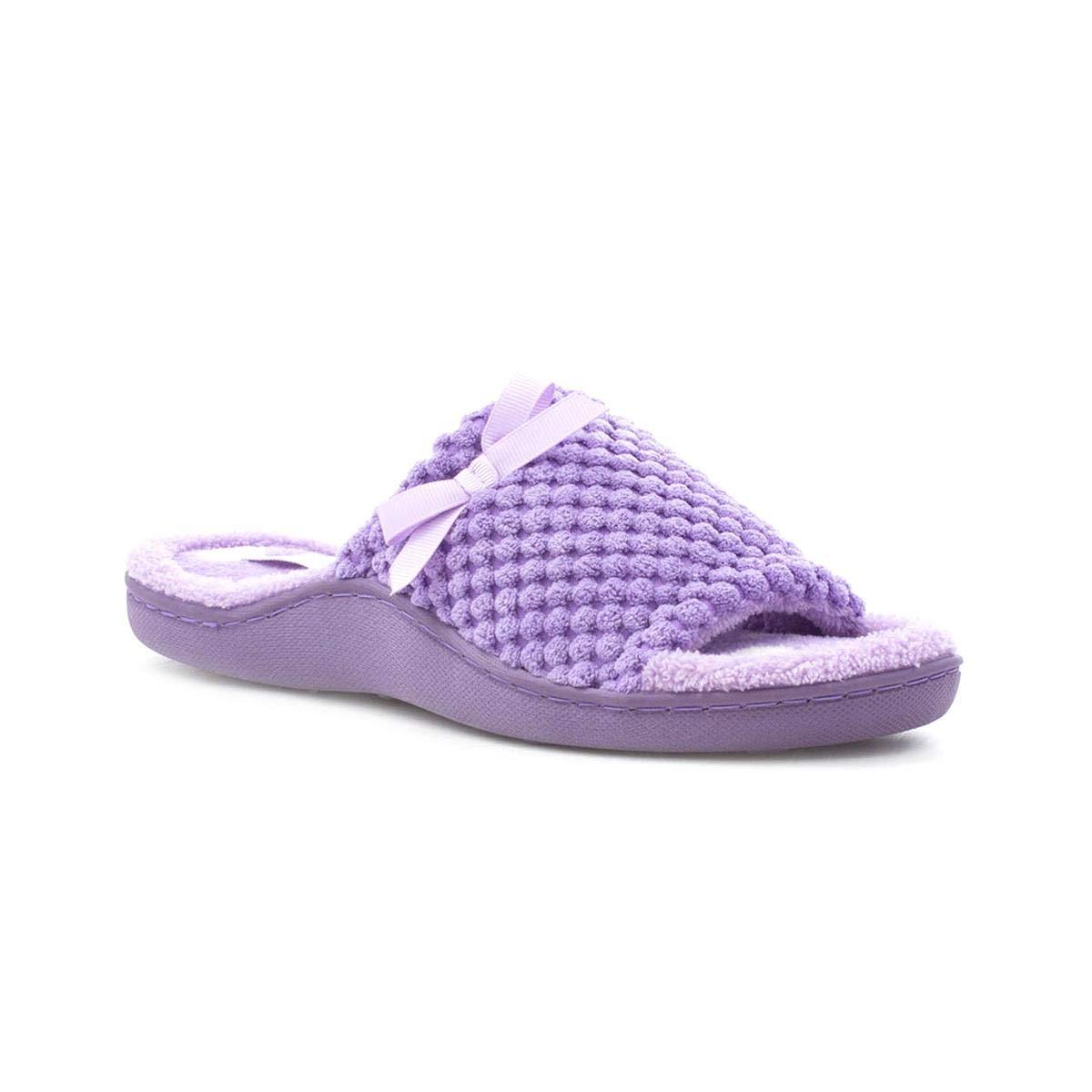 The Slipper Company Womens Lilac Mule Slipper