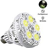 SANSI 30W Daylight LED Plant Light Bulb, Full Spectrum Ceramic LED Grow Light Bulb, 45 LED Chips, E26 Socket, Indoor Gardening for the Home, Indoor Farming, Residential, Office Plants, Grow Walls