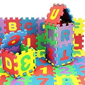 Alextry Lot de 36 Tapis de Puzzle alphab/étique en Mousse pour b/éb/é S