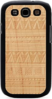 product image for CARVED Matte Black Engraved Maple Wood Case for Samsung Galaxy S3 -Tribal (S3-BC1R-E-TRBL)