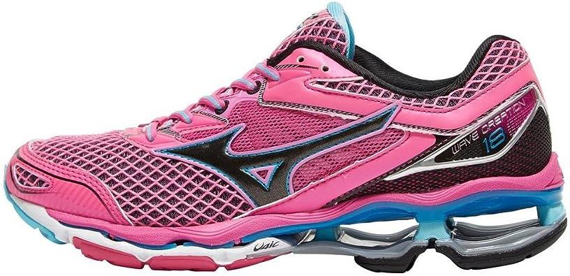 Zapatillas Mizuno Wave Creation 18 para Mujer, Rosa, 37: Amazon.es ...