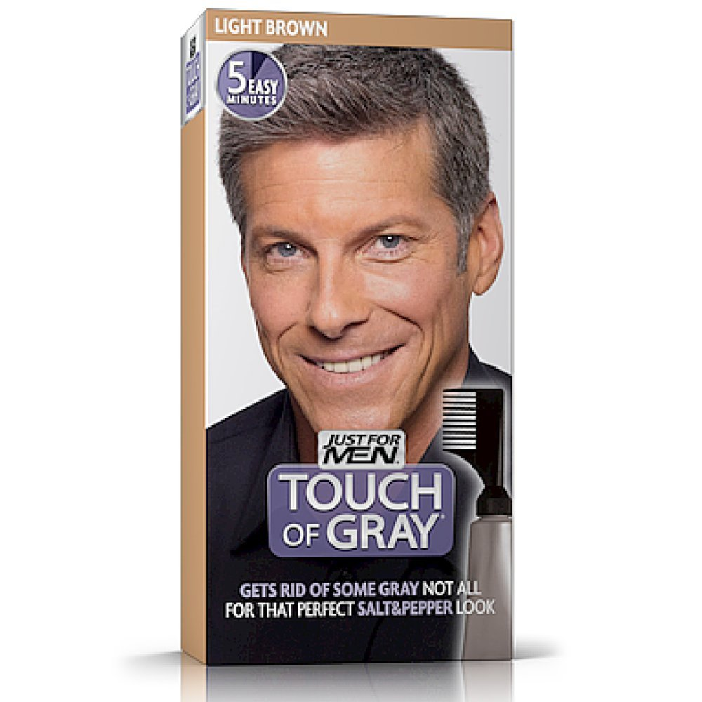 Touch of Gray Men's Hair Color, Light Brown by Just for Men