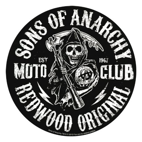 3.75 x 3.75 Officially Licensed Moto Club Reaper Die-Cut STICKER ADESIVO DECAL SONS OF ANARCHY