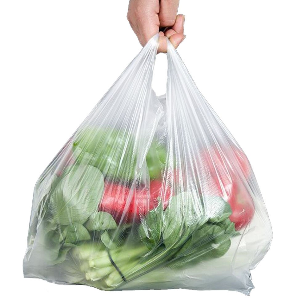 100pcs Strong 30 Micron White Vest Style Carrier Bags for Supermarket Retail Shopping Household Food Storage Bags (9-1/2 x 14) erioctry