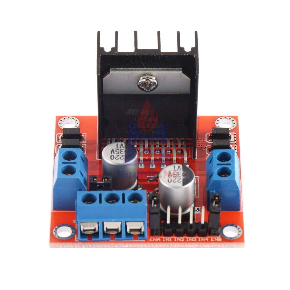 High Anti-Interference Ability Dual Channel H-Bridge Motor Driver Board L298N DC Stepper Motor Driving Module 5V 2A for Arduino