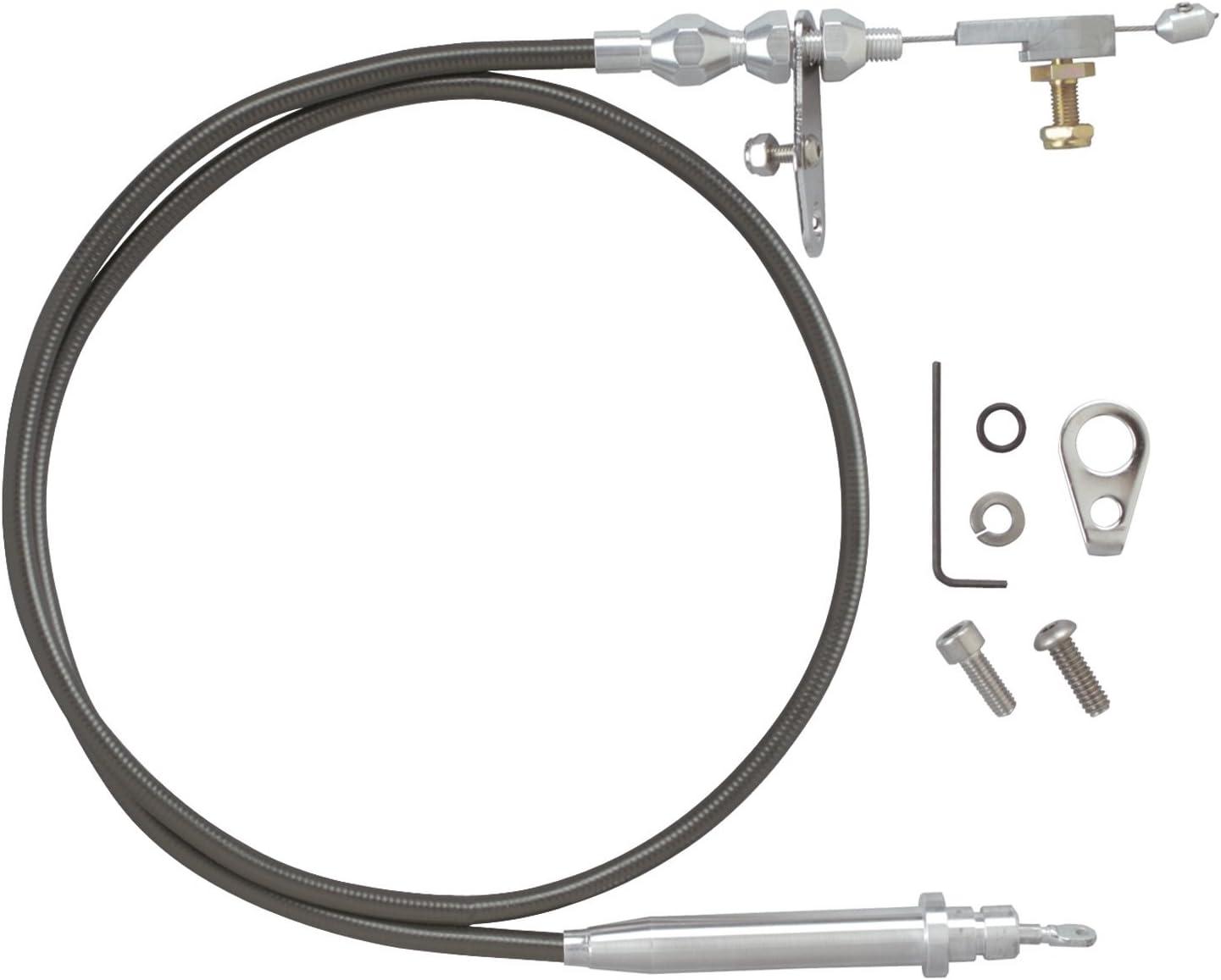 Lokar KD-2AODU Black Kickdown Cable Kit for Ford AOD Transmission