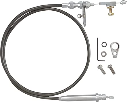 Lokar 1210144 Anchor-Tight Brite Firewall Mount Transmission Dipstick with Lock for Powerglide OEM and Aftermarket Transmission