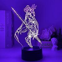 Anime Lamp Xiao Genshin Impact Figuur Nachtlampje 3D Illusie Game Licht voor Slaapkamer Decor Led Licht Sfeer…