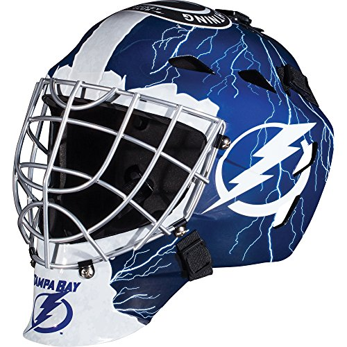 - Franklin Sports Tampa Bay Lightning Goalie Mask - Team Graphic Goalie Face Mask - GFM1500 Only for Ball & Street - NHL Official Licensed Product