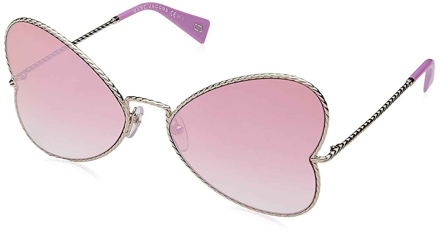 16889a250e65 Amazon.com: Marc Jacobs Women's Marc254s Polarized Cateye Sunglasses LGH  GOLD 60 mm: Clothing