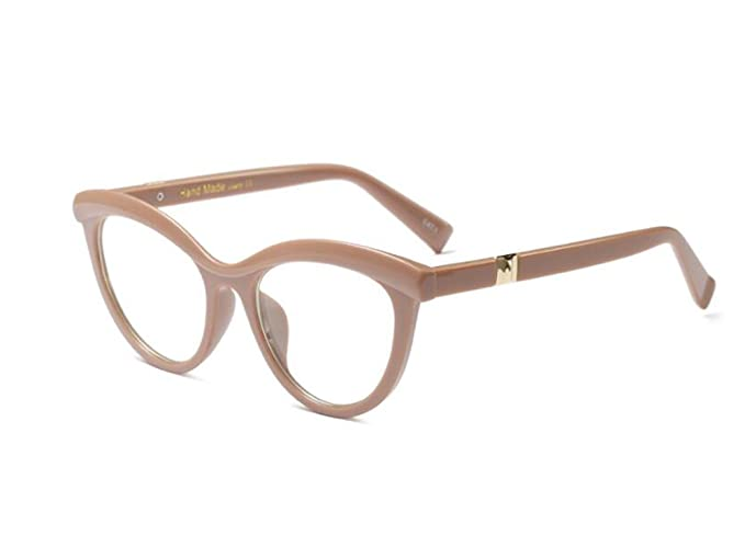 3ef745fdbb01e Allt Vintage Cat Eye Optical Eyewear Half Tinted Frame Mod Eyeglasses with  Clear Lenses For Women