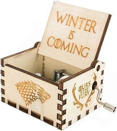 Meiion Premier?¨C?Caja de m¨²Sica, Game of Thrones Classic DIY Grabado en Madera Caja Decorativa Pure Main-Classique Star Wars Caja de m¨²Sica: Amazon.es: Hogar