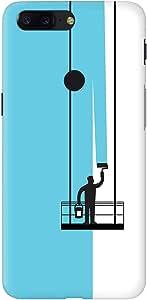 Stylizedd OnePlus 5T Slim Snap Basic Case Cover Matte Finish - Paint Hanger (Blue)