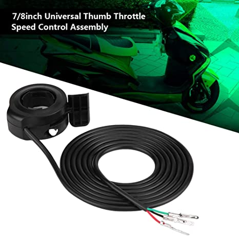 """22mm 7//8/"""" Speed Control 3 Wires Thumb Throttle For E-Bike Electric Bike Scooters"""