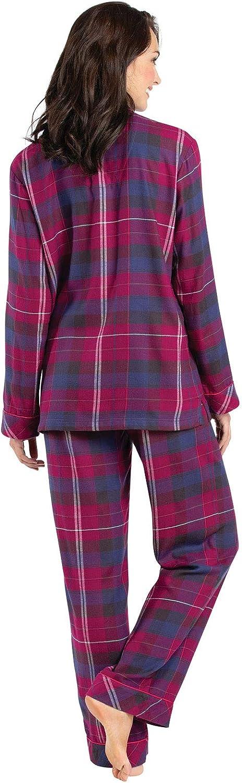 PajamaGram Soft Flannel Pajamas Women Button Front Pajamas Women
