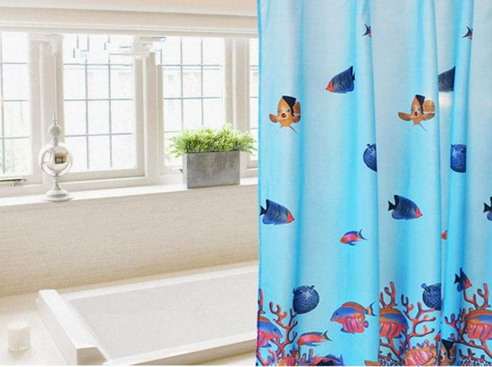 JaHGDU Shower Curtain 1pcs Printing Shower Curtain Polyester Waterproof Simple Bathroom Amenities Opaque Durable Washable Bath Toilet Shade Super Quality (Size : 200cm200cm)