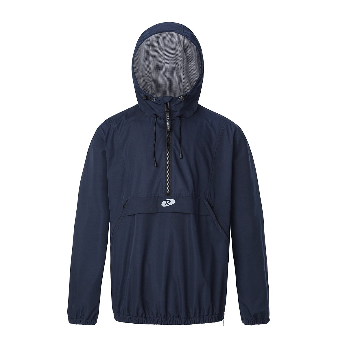 Rokka&Rolla Men's Athletic Water-Resistant Hooded Windbreaker Pullover Anorak Cycling Running Jacket