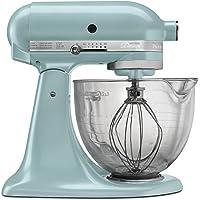 KitchenAid KSM155GBAZ 5-Quart Artisan Design Series Stand Mixer with Glass Bowl (Azure Blue)