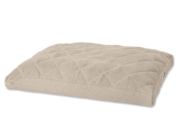 Orvis Comfortfill Platform Dog Bed/Large Dogs 60-90 Lbs, Heathered Khaki,