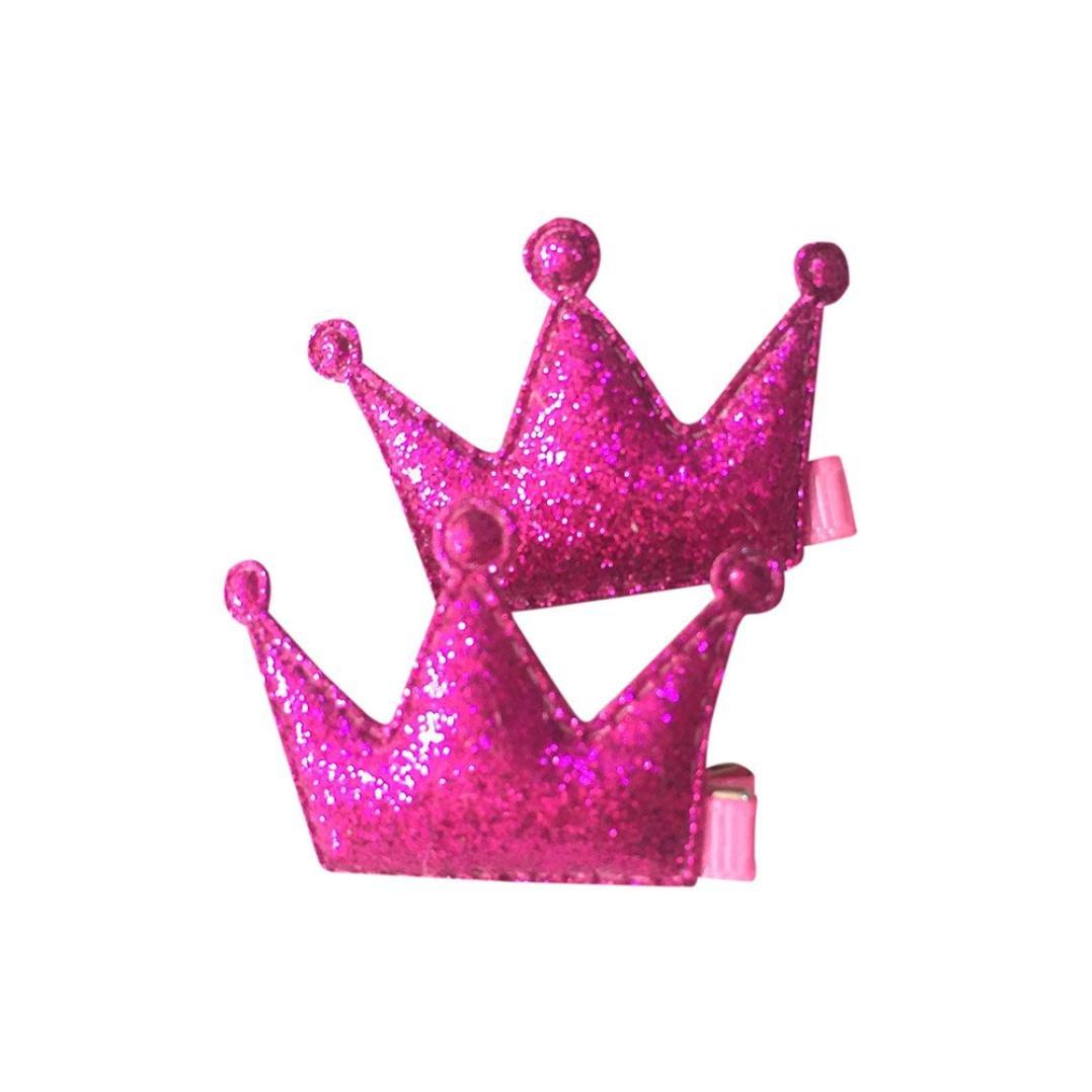K-youth® 2 piezas corona pinzas de cabello niñas fiesta princesa cuero horquilla infantil para niñas horquillas para el pelo niña bebe gran disfraz para vestir, cosplay, baile y fiesta (Plata)